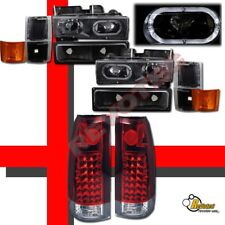 94 95 96 97 98 Chevy Full Size Tahoe Silverado Headlights Set & LED Tail Lights