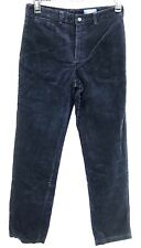 Polo Boys Corduroys Pants Size 20 Blue with Red Pony Logo Flat Front Cotton