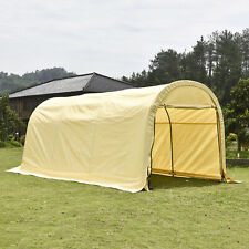 10x20ft Canopy Carport Car Shed Shelter Outdoor Wood Haystack Storage Cover Tent