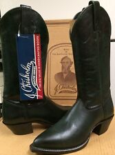 J Chisholm  Western Womens Boots Green Leather 855 Size 6 M NEW