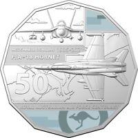 Australia 2021 RAAF Cent. F/A-18 Hornet McDonnell Douglas 50c Coloured UNC Coin