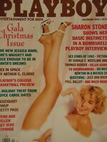 Playboy December 1992 | Sharon Stone Barbara Moore Jessica Hahn  #1658 +