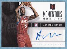2012-13 Momentum Basketball ~Arnett Moultrie ~ 76ers ~Momentous Rookies Auto #52