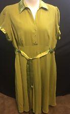 Jessica London Short Sleeve Collared Apple Green Dress Size 24W