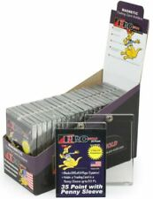 (25) Promold Mh35S One Touch 35 Pt. Sleeved Trading Card Magnetic Holders