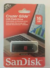 16GB SanDisk CRUZER GLIDE USB 2.0 /3.0 Flash Memory Pen Drive Thumb Stick NOP