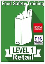 Level 1 Food Safety - Manufacturing,Catering,Retail  computer based E-learning
