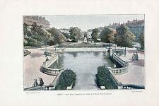21 DIJON PLACE DARCY SQUARE STATUE F.RUDE PORTE GUILLAUME IMAGE COULEUR 1902