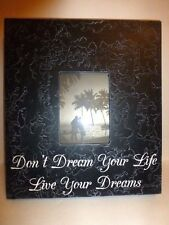 """Wall Frame, """"Don't Dream Your Life, Live Your Dreams"""", 14 3/4"""" x 16 3/4"""", USA"""