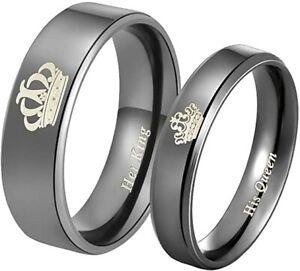 Ring Mabohity Herren Titan Ring Krone Her King His Queen Gravur  unvollständig