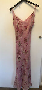 Per Una Full Length Dress Size 8 With Shoulder Wrap / Scarf