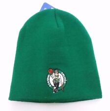 Boston Celtics NBA Winter Fitted Cuffless Knit Beanie Hat Skully Cap NWT