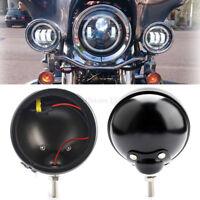 """2x 4.5"""" Runde Motorrad LED Nebellichter Gehäuse Eimer Shell für Harley Honda"""