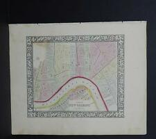 Antique Map, Mitchell, 1865, City of New Orleans, Louisiana M8#30
