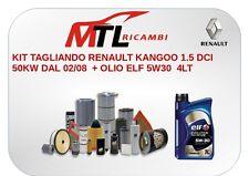 KIT TAGLIANDO RENAULT KANGOO 1.5 DCI 50KW DAL 02/08  + OLIO ELF 5W30  4LT
