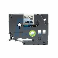 2PK 6mm Black on White Label Tape Tze-211 Tz-211 Compatible for Brother P-touch