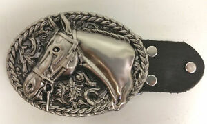 Horse Head Rodeo Belt Buckle-For Cowboys-Western Accessories-Horses