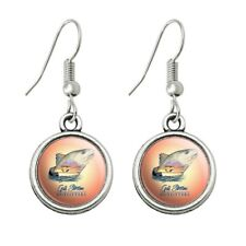Fish Dangling Drop Earrings Gulf Stream Outfitters Red Snapper