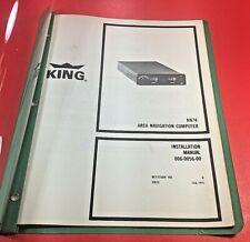 1971 King KN 74 Area Navigation Computer Installation Manual 006-0056-00