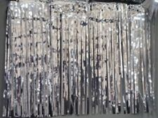 """Metallic silver Fringed Garland Valance Party decoration 10 ft long x 15"""""""