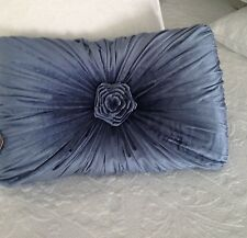 "Blue Velvet Cushion / Throw Pillow  Shabby Chic French Country 48x33cm (19x13"")"