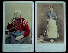 2 x CDV's of Dutch ladies in traditional costume