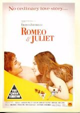 POSTCARD OF OLD MOVIE POSTER ROMEO & JULIET REPRODUCTION FROM OLD MOVIE POSTER