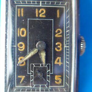 "Rectangular Men's Wrist Watch, "" Vintage "", Good Function, Approx. 1955"