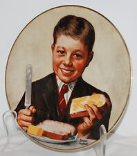 Norman Rockwell Butter Boy 1979 RARE Limited Ed Plate Dave Grossman Designs