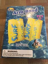 Brand New Surf Club Inflatable Arm Band For Safety Swimming Ages 3-6