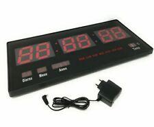 Tempo di Saldi Slim 46x3x22cm Orologio Digitale LED da Parete - Nero