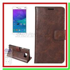 Cover Custodia Case Leather Card Slot Portafoglio Similpelle Galaxy Note 5 V