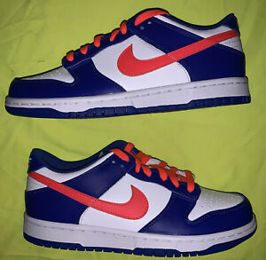 Nike Dunk Low GS Crimson Game Royal 2021 DS NEW WITH BOX 7Y NIKE DUNK LOW GS DS