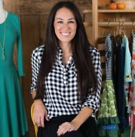 Matilda Jane With Joanna Gaines Plaid Popover Top Women's Size Small