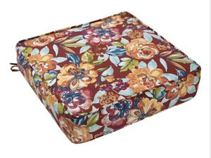 Outdoor Deep Seat Cushion Floral Calypso Color Pattern m12