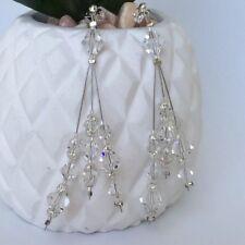 Wedding Ella Jane Earrings - Genuine Swarovski Crystals - Crystal - Clear