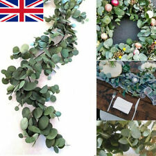 2m Artificial Fake Eucalyptus Garland Long Leaf Plants Greenery Foliage Decor UK