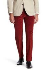 Tailorbyrd Mens30/30 Burnt Orange Flat Front Straight Leg Corduroy Pants NWT $95