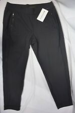 NWT $89 Athleta Size L Black Courtside Trouser Pants Fitness Workout #487667