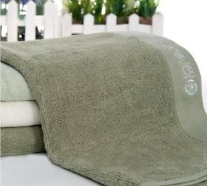 Natural Bamboo Fiber Pure Color Bathroom Towerl Hand Towel Face Towel 72x33cm