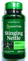 300mg Stinging Nettles 100 Capsules Herbal Eczema Prostate Gout Anemia Support