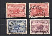 Australia 1934 Macarthur set + Type B 2d FU CDS