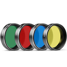 Neewer 4 Pieces Standard 2 inches Color Filter Set for Telescope Eyepiece