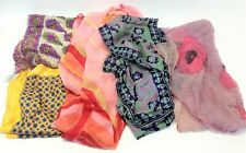 Mixed Vintage Lot Used Brooks Brothers & Unbranded Silk Scarves Accessories