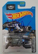 Christian Bale Signed Hot Wheels The Bat Car Dark Knight Toy Bruce Wayne Batman