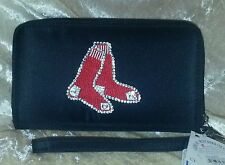 Boston Red Sox Bling Wristlet Cell Phone Wallet Rhinestone MLB Licensed!