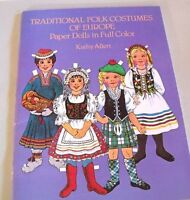 Traditional Folk Costumes of Europe Paper Dolls by Kathy Allert  27 Countries
