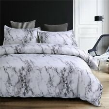 Elegant Microfiber Marble Printed Duvet Cover Bedding Set Pillow Case All Size