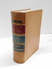 American Law Digest 1658 to 1896 Century Edition Vol. 11 Decorative Leather