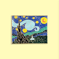 Vincent Van Gogh Starry Night enamel pin